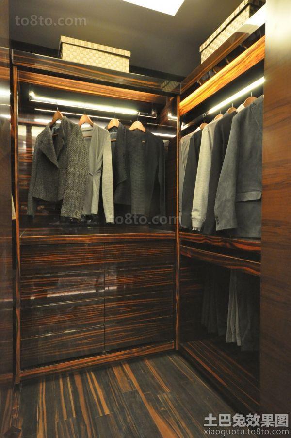 新古典开放式衣柜装修效果图
