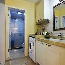 面积81平小户型卫生间美式装饰图片欣赏