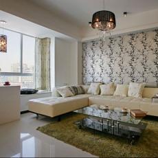 面积90平简约二居客厅实景图