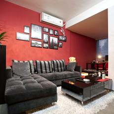 面积72平现代二居客厅装修效果图片大全