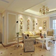 面积90平欧式三居客厅装修效果图片大全