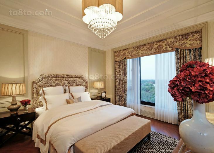 精美83平米欧式小户型卧室装饰图