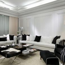 89平米二居客厅现代效果图