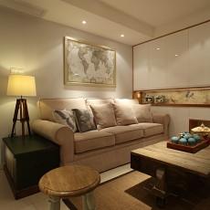 美式小户型客厅装饰图