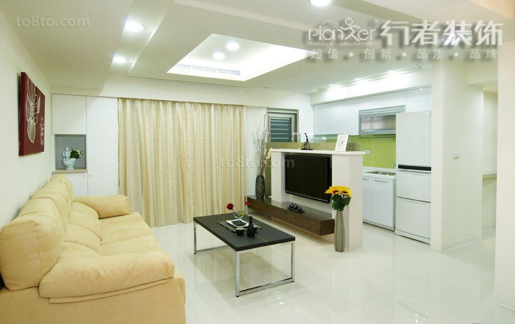 精美面积89平简约二居客厅装修效果图