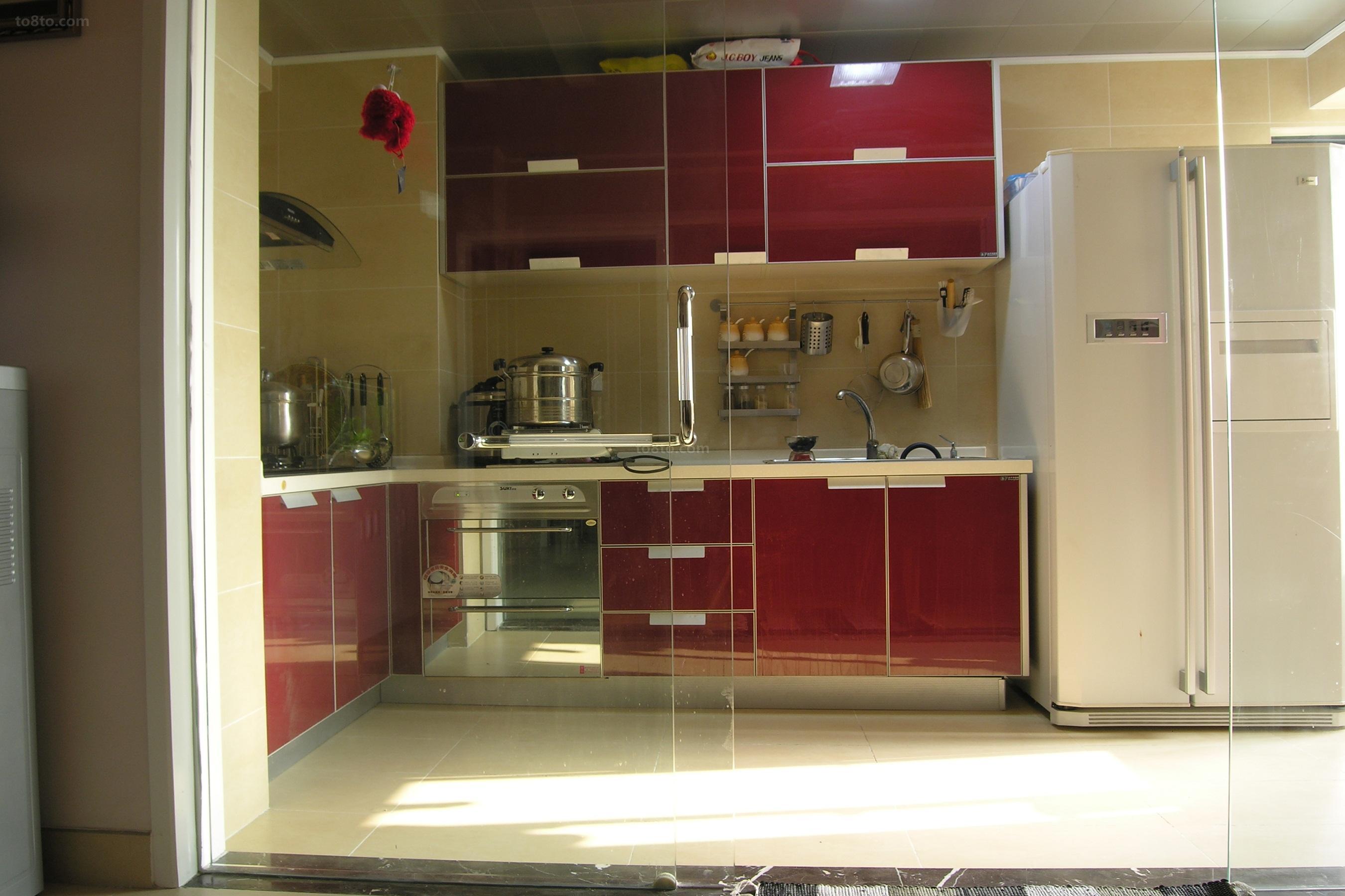 精选74平米简约小户型厨房效果图片