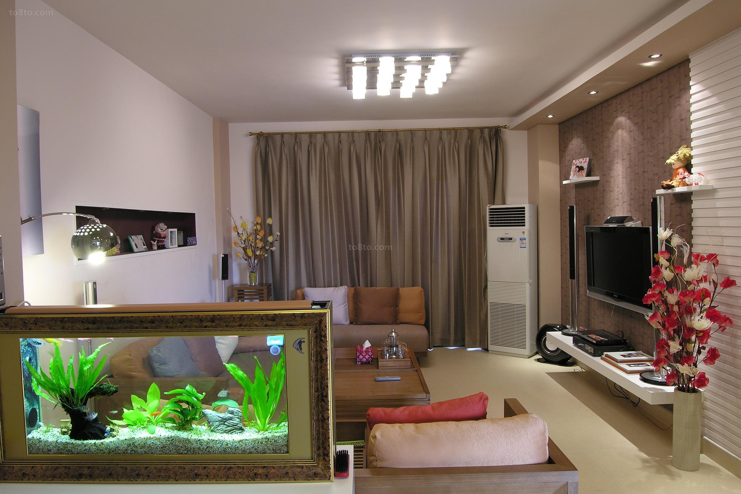 精选90平米简约小户型客厅装修实景图片