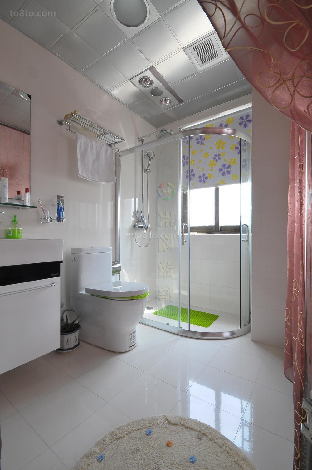 热门90平米简约小户型卫生间实景图