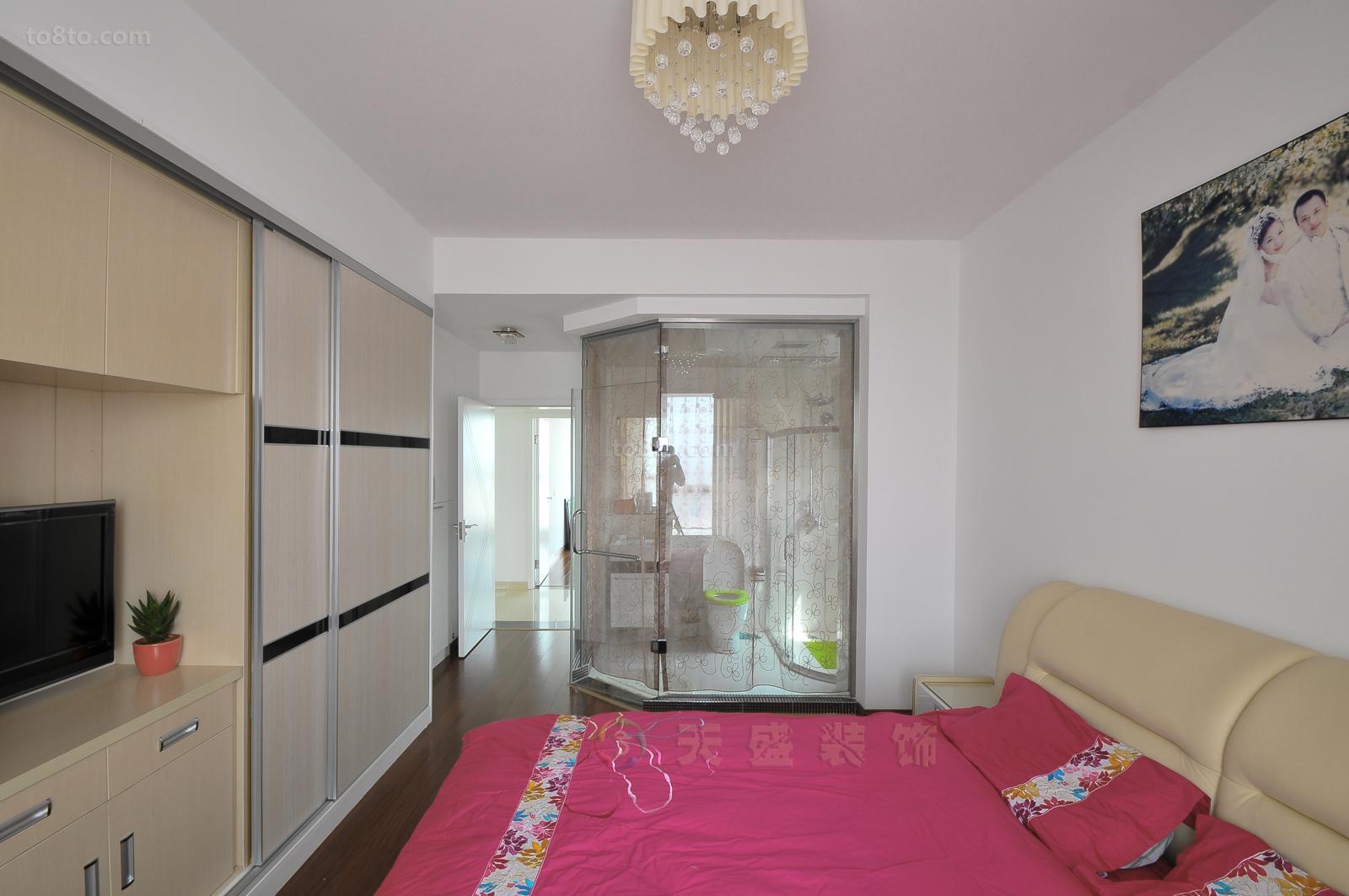 热门面积80平小户型卧室简约装修效果图片大全
