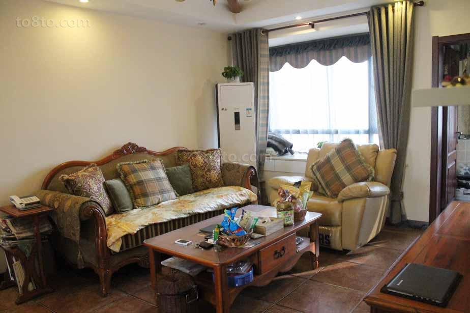 精美80平米美式小户型客厅装修效果图片大全