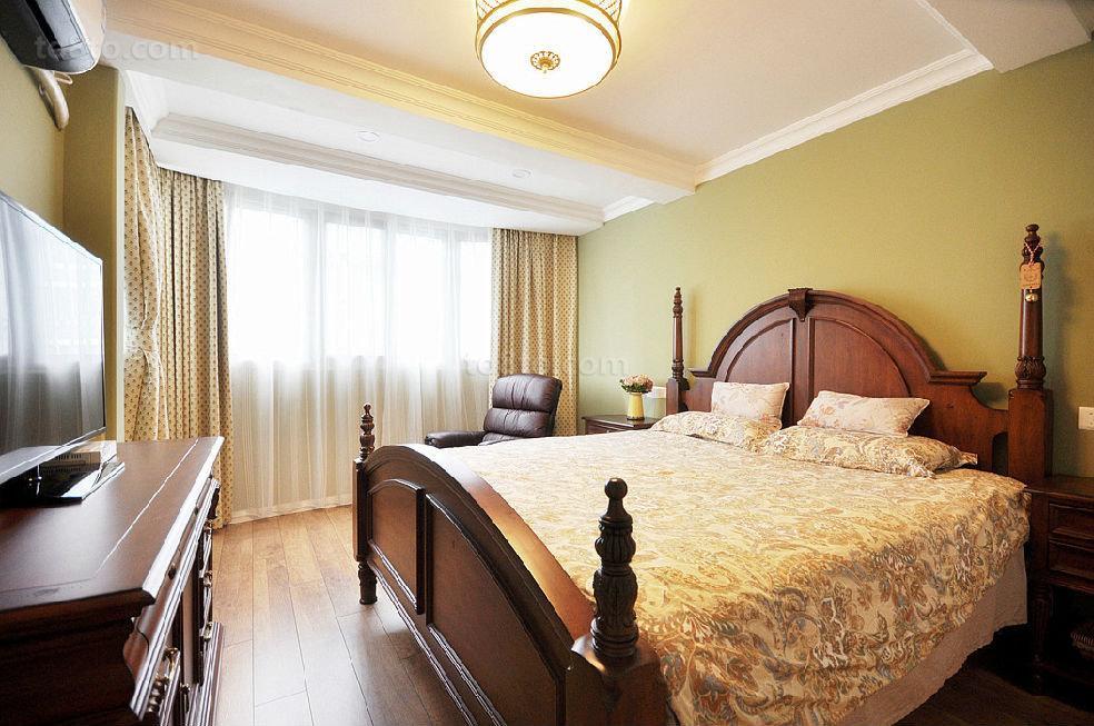 美式小户型卧室装修图