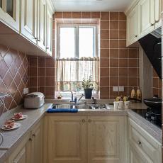 面积76平小户型厨房美式装修图片欣赏