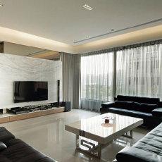 热门面积106平现代三居客厅效果图片
