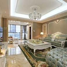 热门78平米二居客厅欧式装修设计效果图片