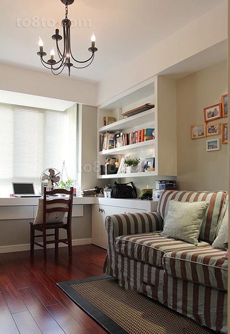 热门73平米简约小户型书房装饰图片大全