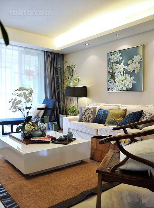 2018精选80平米二居客厅简约装饰图片