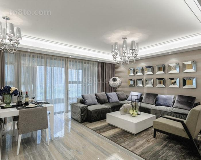 面积86平简约二居客厅装修图片欣赏