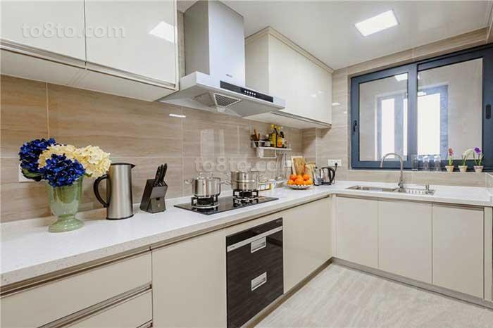 面积70平小户型厨房简约装修欣赏图片