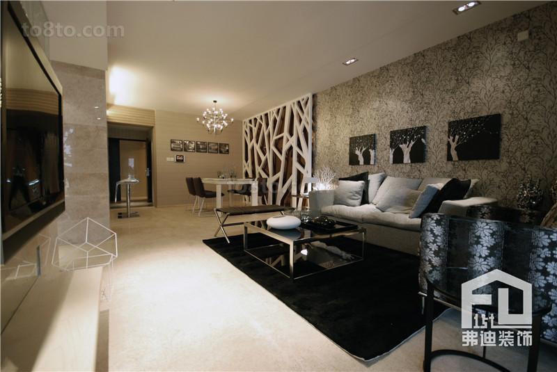 精美面积81平小户型客厅简约效果图