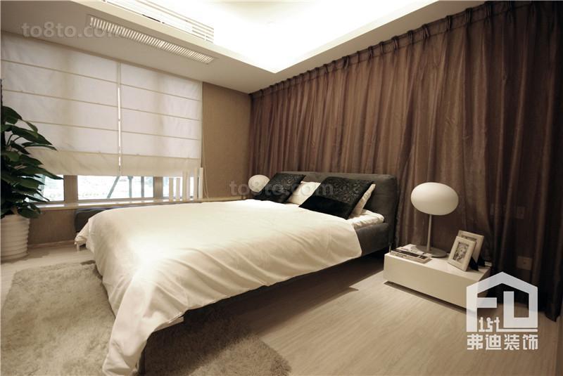 热门面积71平小户型卧室简约装修实景图