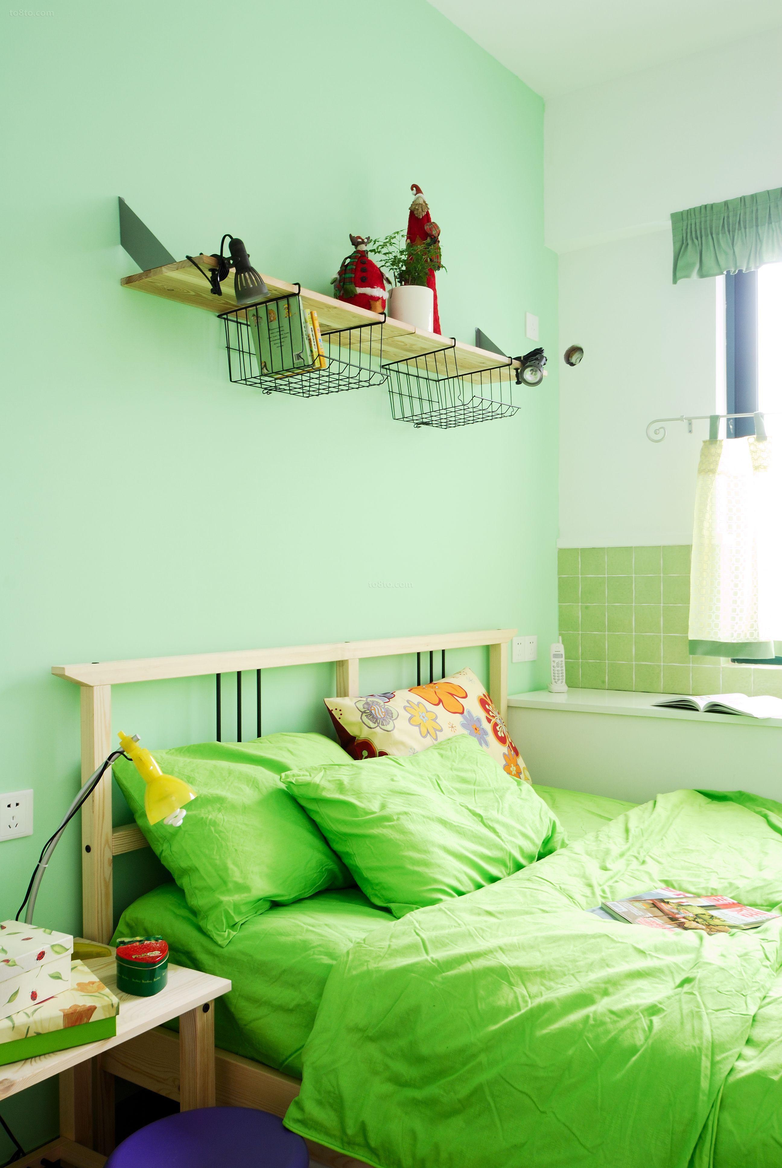 田园风格床头背景墙效果图欣赏