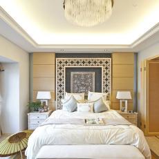 精选109平米三居卧室中式装修设计效果图