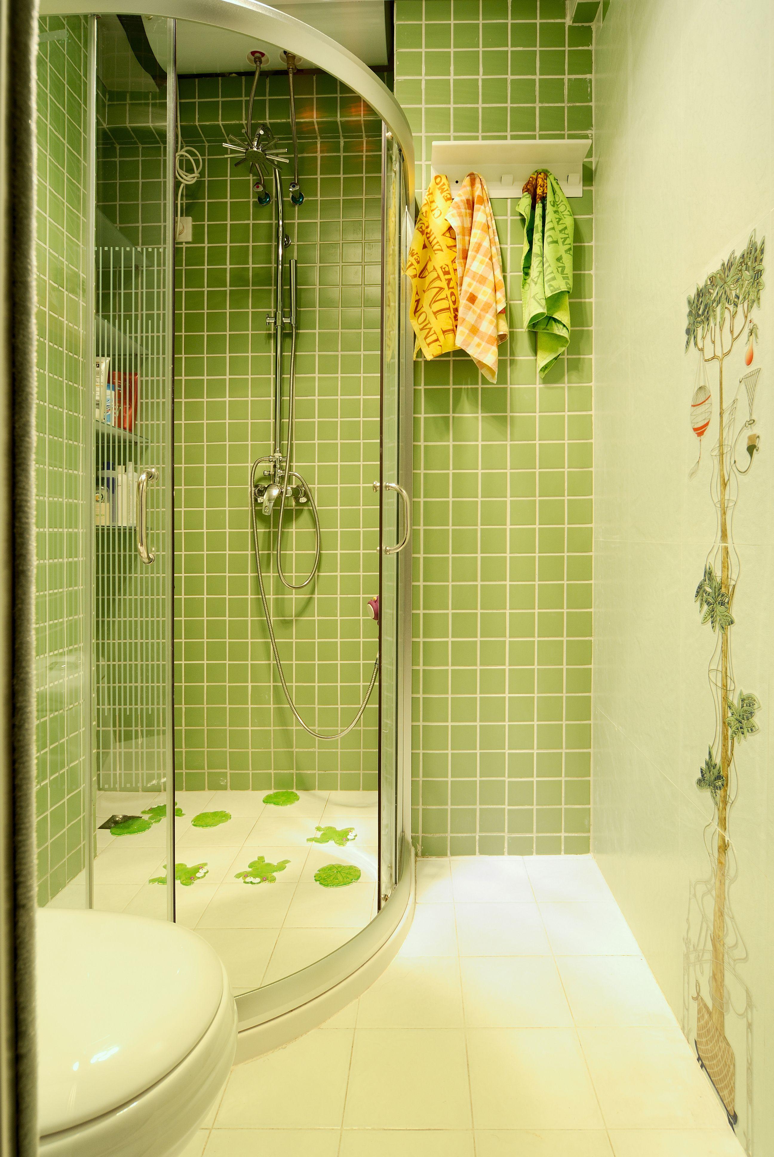 田园风格卫生间淋浴房装修效果图欣赏