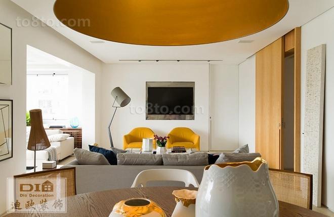 北欧风格客厅电视背景墙效果图大全欣赏