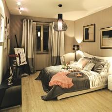 精美99平方三居卧室现代装修设计效果图片欣赏