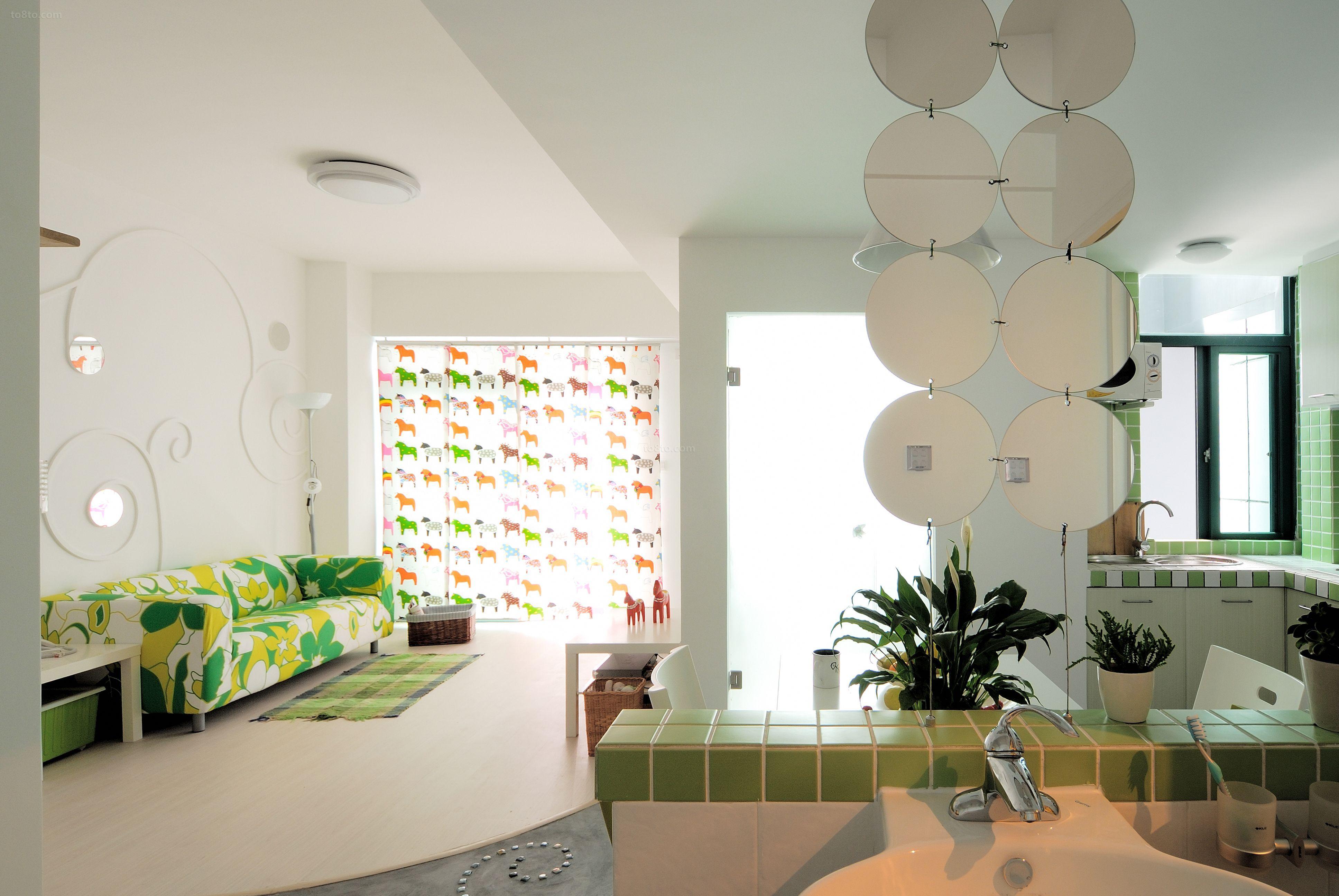 田园风格室内沙发背景墙效果图欣赏