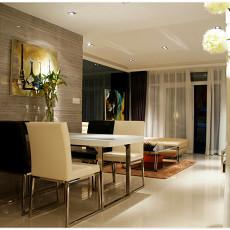 面积84平现代二居餐厅装饰图片