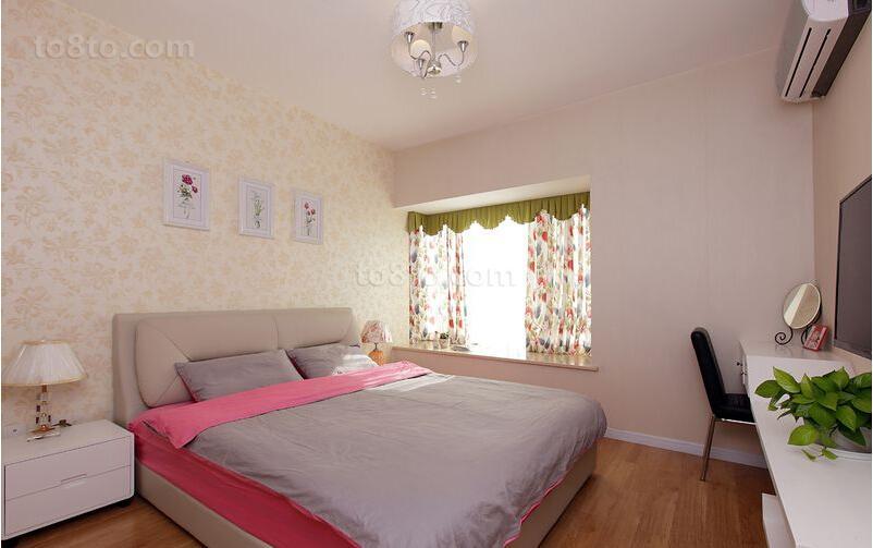精选87平米简约小户型卧室装修效果图
