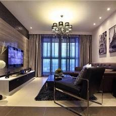 热门大小74平现代二居客厅装修效果图片
