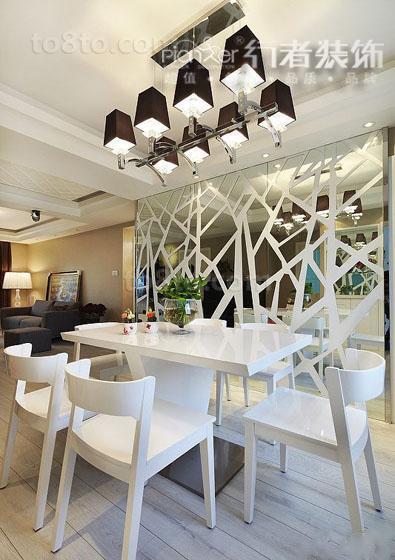 热门面积84平小户型餐厅简约装修实景图片大全