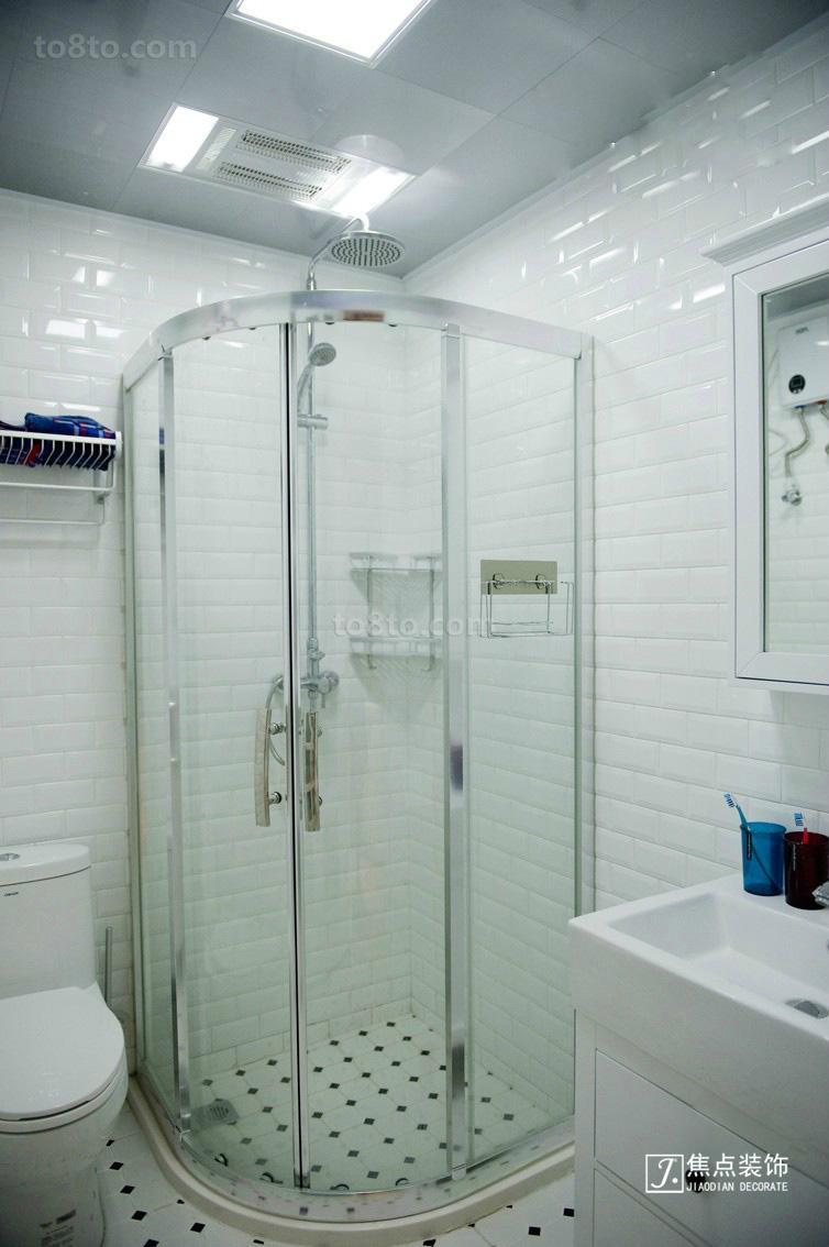 热门86平米简约小户型卫生间装修效果图片欣赏