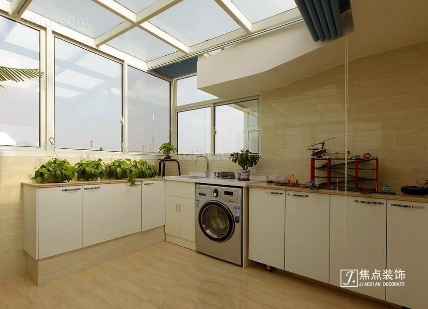 80平米田园小户型厨房装修实景图