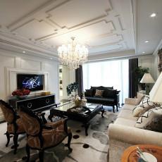 热门80平米二居客厅新古典设计效果图