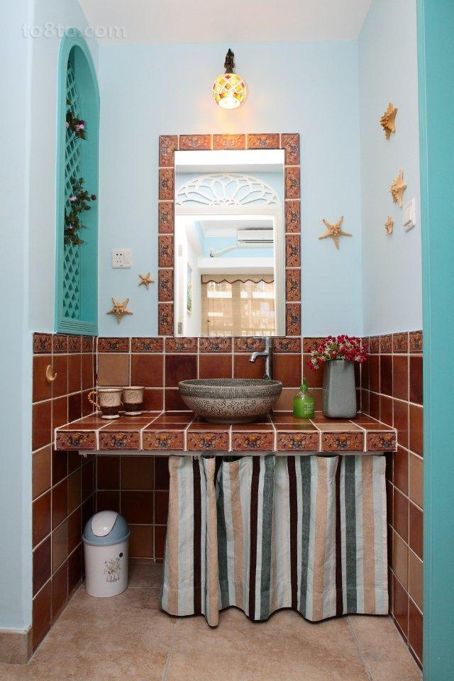 复古风格家居洗手台装修图片