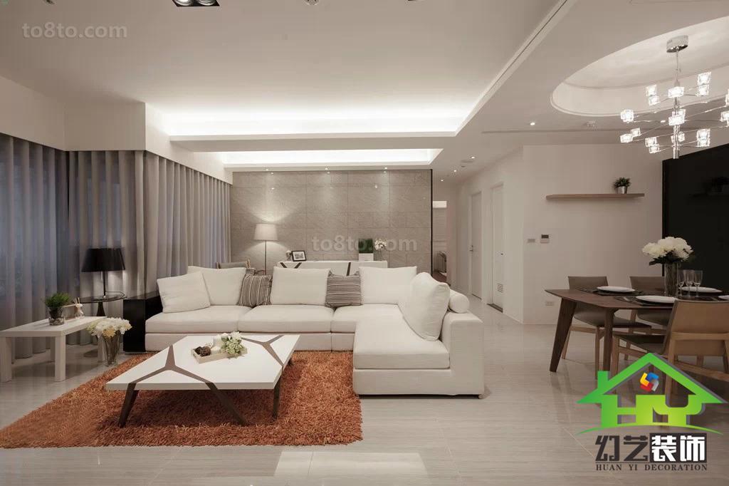 精美87平米简约小户型客厅装饰图片欣赏