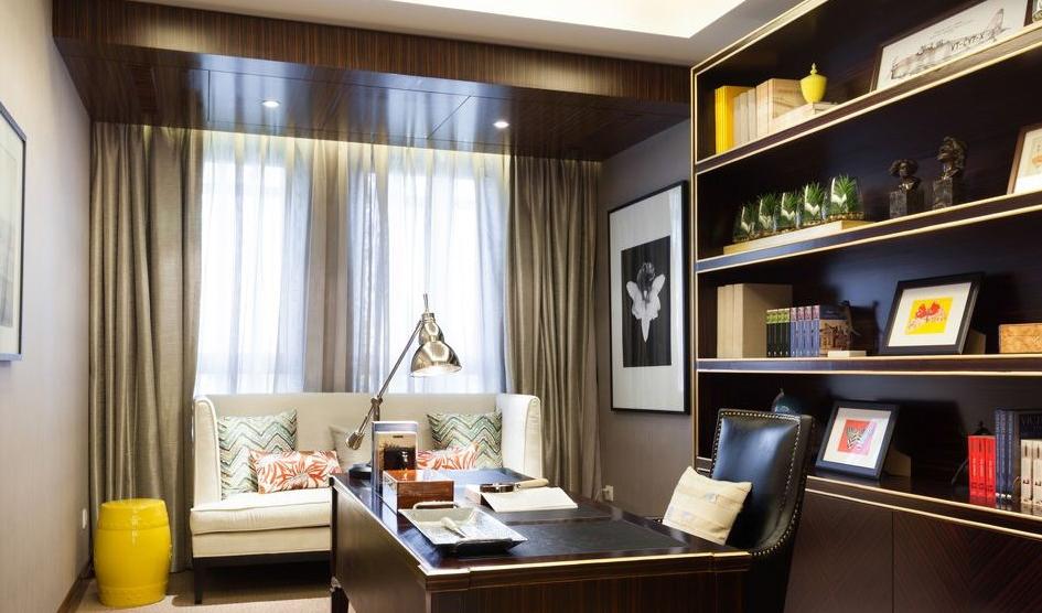 精美89平米简约小户型书房装修设计效果图片