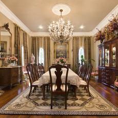 精美113平米美式别墅餐厅装饰图片大全