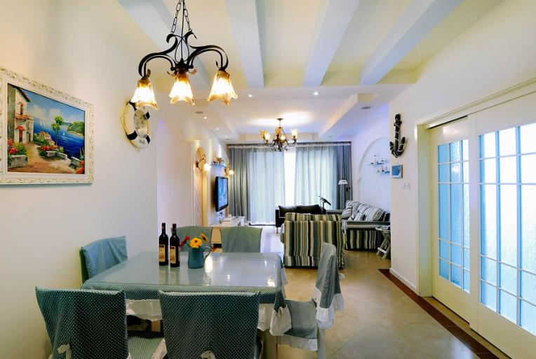 精选地中海风格餐厅吊顶装修效果图