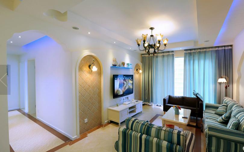 地中海风格小户型客厅装修图