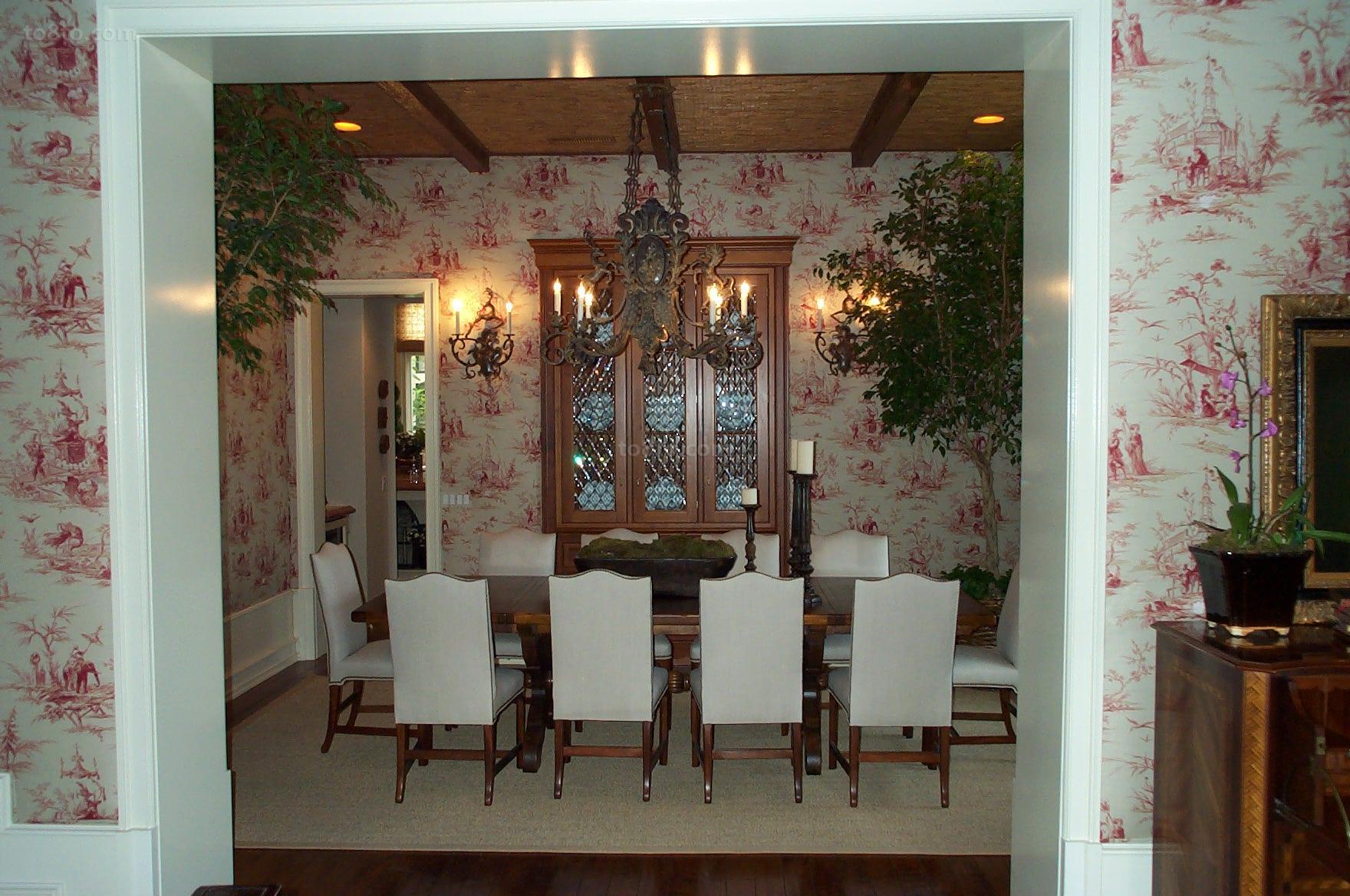 热门田园小户型餐厅装修实景图片
