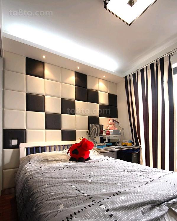 现代简约卧室软包背景墙装修效果图欣赏