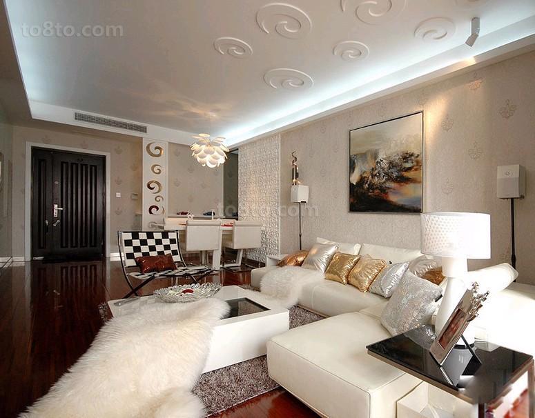 简约现代风格客厅装修效果图片