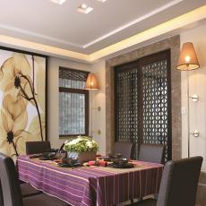 现代中式餐厅装修效果图欣赏大全