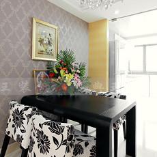 面积77平现代二居餐厅装饰图片大全