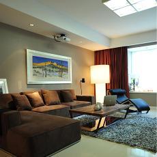 201887平方二居客厅现代装修图
