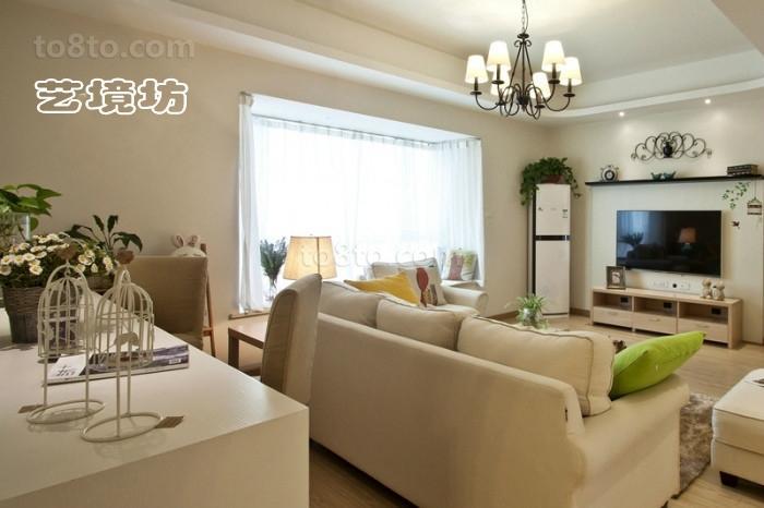 2018精选90平米简约小户型客厅欣赏图
